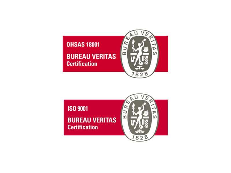 ISO 9001:2015 ja OHSAS 18001:2007 -sertifikaatit